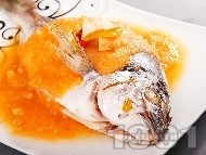 Задушена риба ципура със зеленчуков сос по италиански